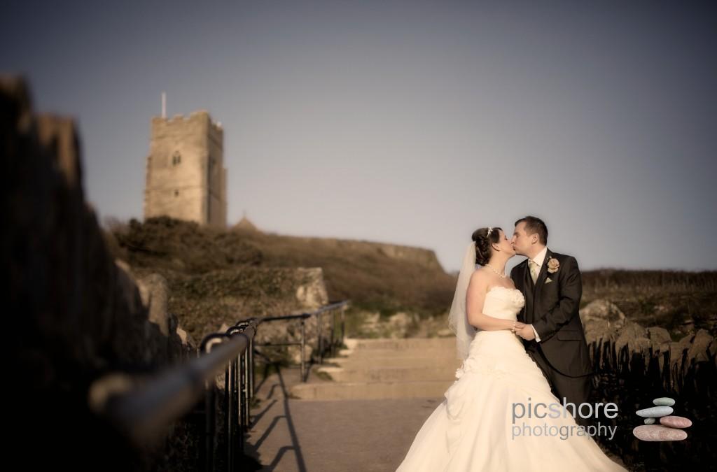 Wembury Church wedding photographer