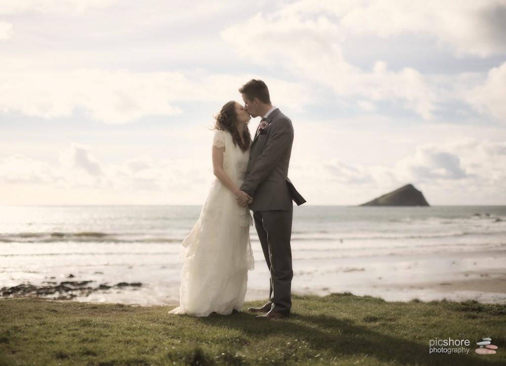 Devon beach wedding
