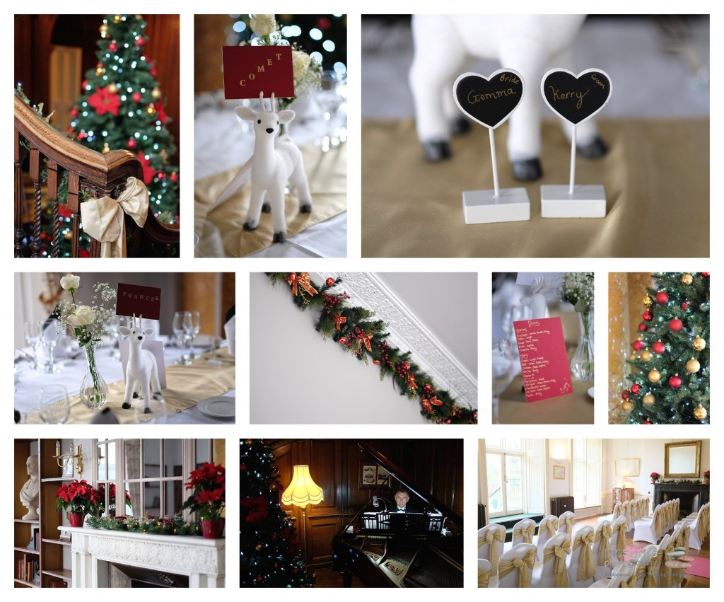 kitley house wedding plymouth Devon Christmas Wedding picshore photography 4