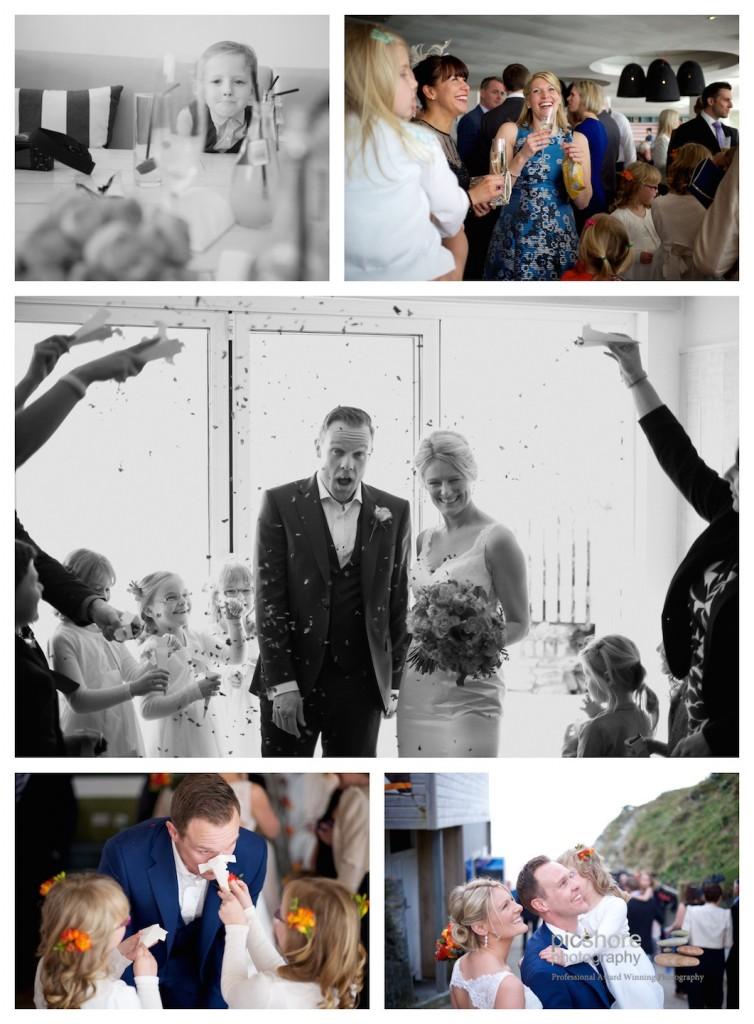 fun beach wedding cornwall