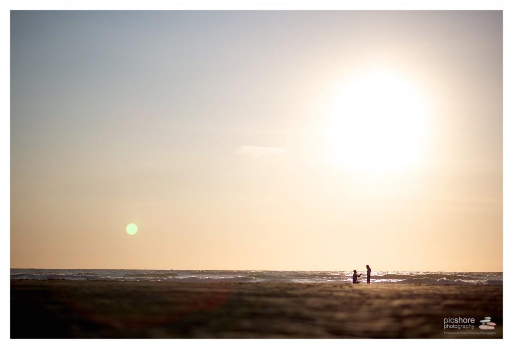 surprise proposal on cornish beach picshore photography 07